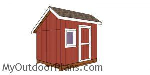 8x10 saltbox shed plans