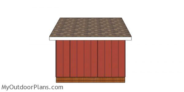 8x10 saltbox shed plans - back view