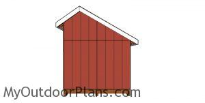 8x10 saltbox shed plans - side view