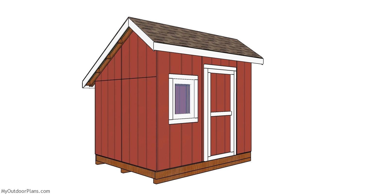 8x10 Saltbox Shed - Free DIY Plans