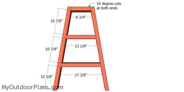 Assembling the A frames