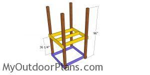 Assembling the short tower