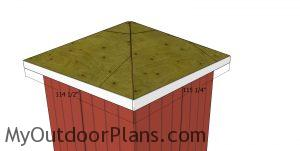 Back roof trims