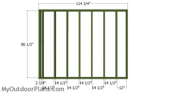 Back wall frame - 20x20 shed
