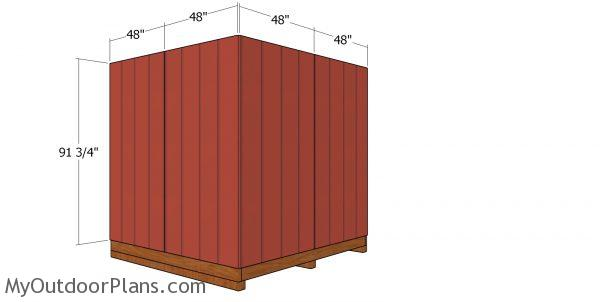 Back wall sheets - 8x8 corner shed