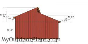 Back wall siding sheets - 20x20 shed