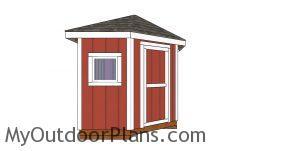 Build a 8x8 corner shed