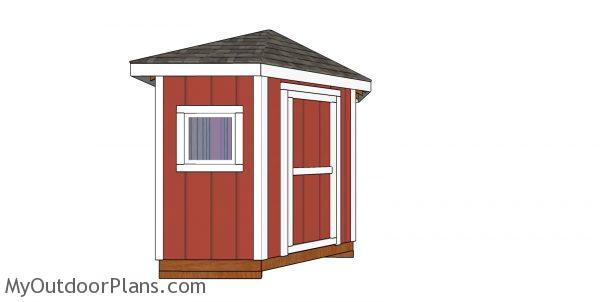 Build a 8x8 corner shed