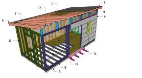 10×20 Lean to Office Shed Roof Plans
