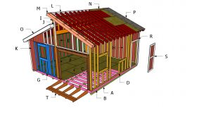 20×20 Clerestory Shed Roof Plans