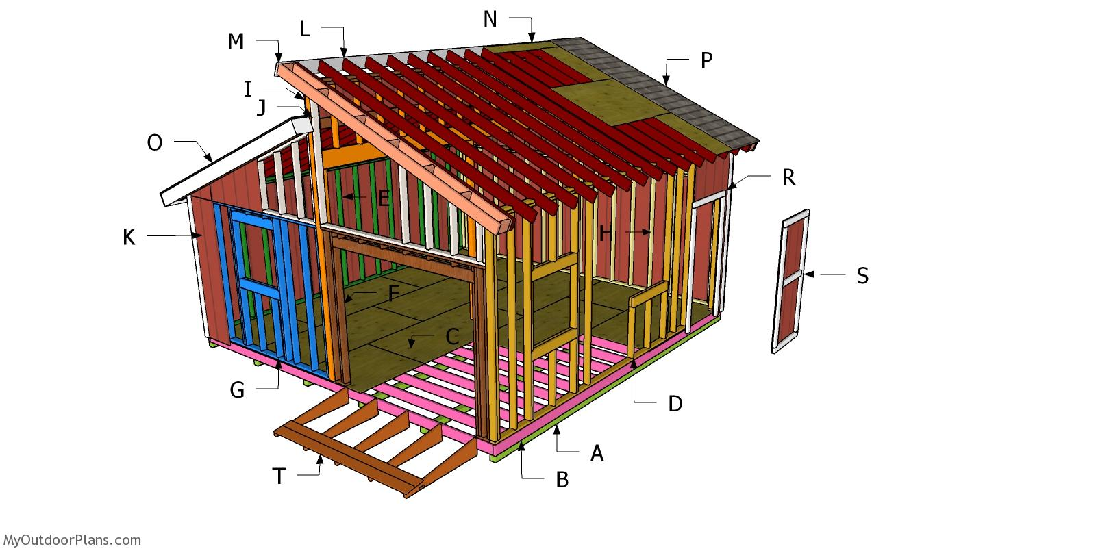 20x20 Clerestory Shed Roof Plans