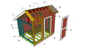 8×10 Saltbox Shed Roof – Free DIY Plans