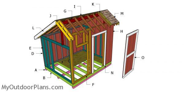 Building a 8x10 saltbox shed