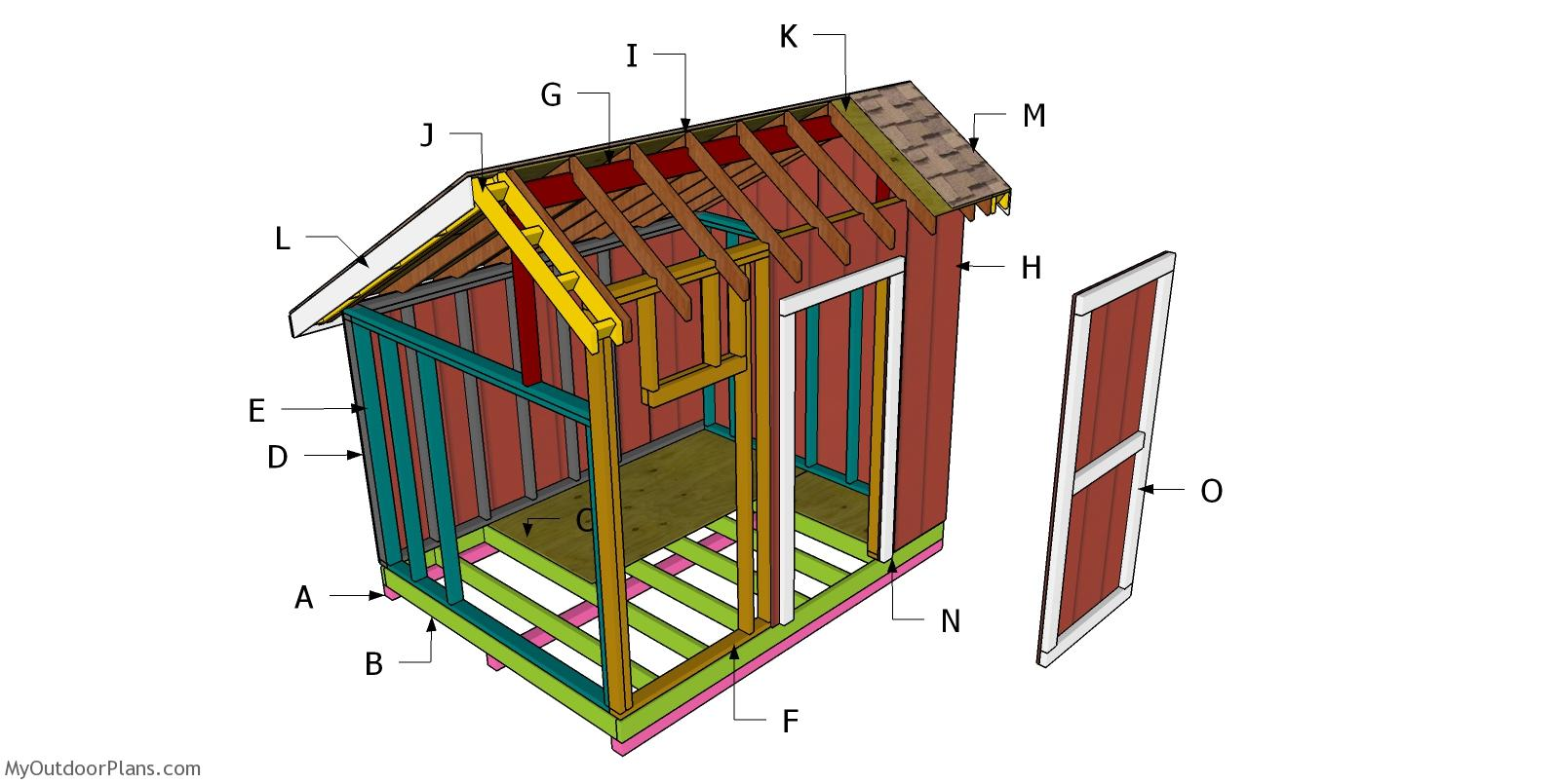 8x10 Saltbox Shed Roof - Free DIY Plans