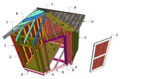 Hip Roof for 8×8 Corner Shed Plans