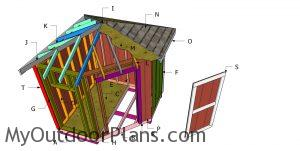 Building a 8x8 corner shed