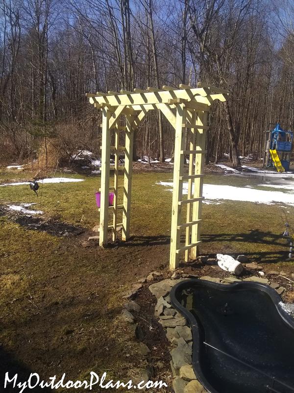 Building-a-garden-arbor