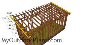Building the side overhangs