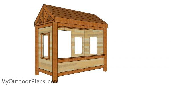 Cabin Bed Plans - Twin Size - Back view