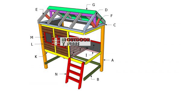 DIY-Building-a-twin-bed-cabin