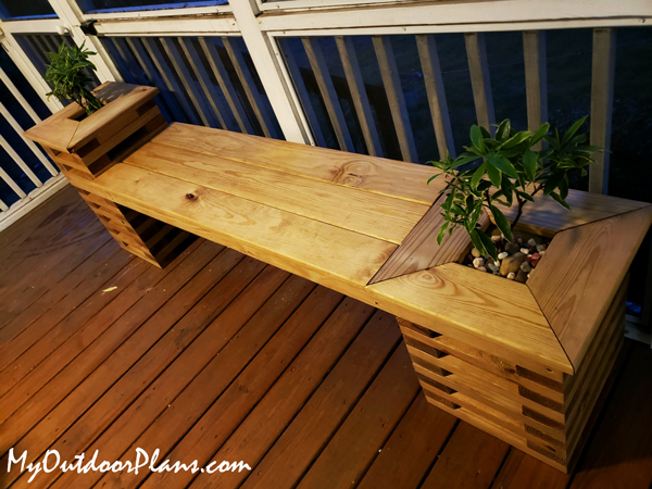 DIY Project - Garden Bench with Planters