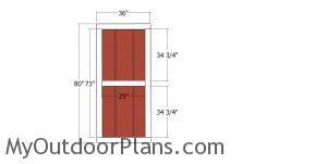 Door Door for corner shed with 5 sides