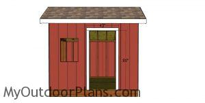 Door jambs - 8x10 saltbox shed