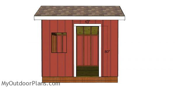 Door jambs - 8x10 saltbox shed