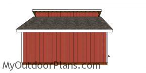 Double pitched roof shed plans