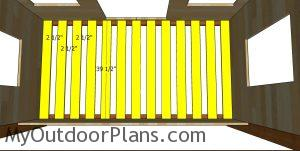Fitting the bed slats