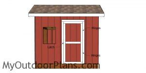 Fitting the door to the saltbox shed