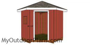 Fitting the jambs - 8x8 corner shed