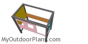 Fitting the panels to the cabin bed