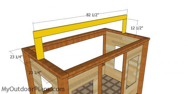 Fitting the ridge beam
