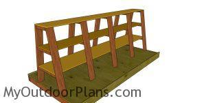 Fitting the shelves - lumber cart