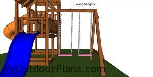Fitting the swing hangers