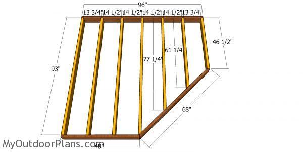 8x8 5 Sided Corner Shed - Free DIY Plans | MyOutdoorPlans ...