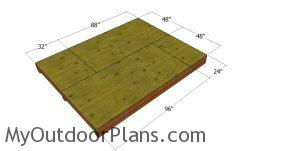 Floor sheets - 8x10 saltbox shed
