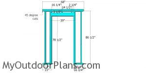 Front wall frame - 8x8 corner shed