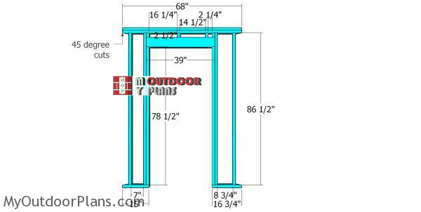 Front-wall-frame-8x8-corner-shed