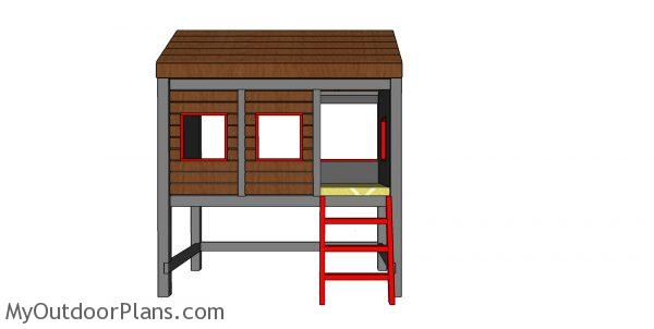 High Cabin Bed Plans - Twin Size - How to build