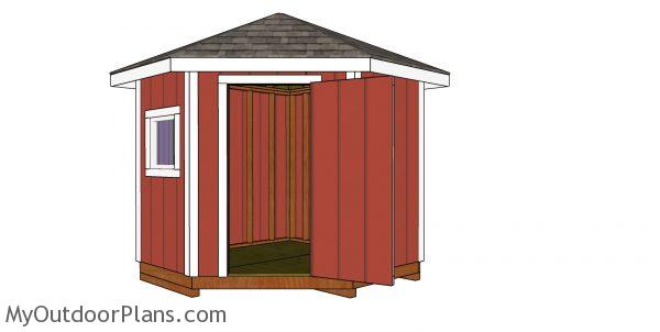 How to buila 8x8 5 sided shed