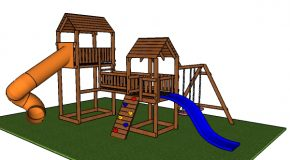 Outdoor Playset with Swing and Slides – Free PDF Download