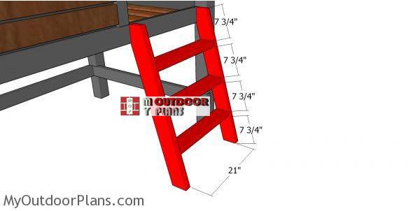 Ladder-for-cabin-bed