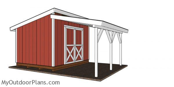 Lean to onto shed plans