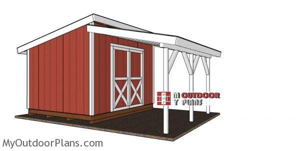Lean-to-onto-shed-plans