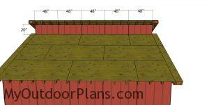Panels - 20x20 shed