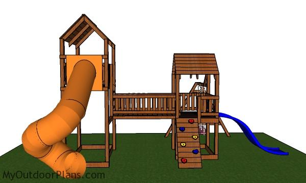 Playset with Fort and Swing Plans