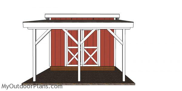 Porch onto shed plans