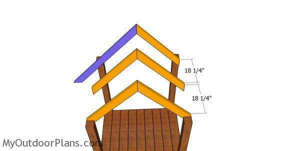 Rafters for short tower